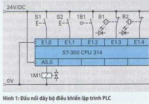 Đấu dây cho bộ điều khiển lập trình PLC