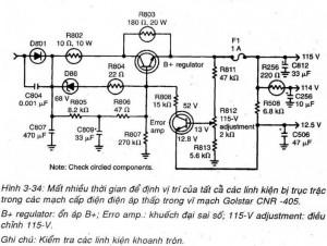 Sửa chữa bộ cấp điện trong Tivi
