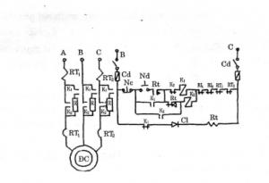 Sơ đồ điều khiển động cơ lồng sóc có thêm điện mở máy vào mạch stato