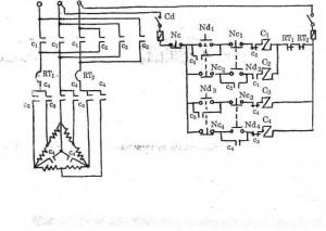 Sơ đồ điều khiển động cơ lồng sóc có hai cấp tốc độ