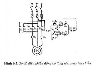 Sơ đồ điều khiển dộng cơ lồng sóc qoay hai chiều