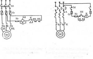 Sơ đồ điều khiển động cơ lồng sóc quay một chiều