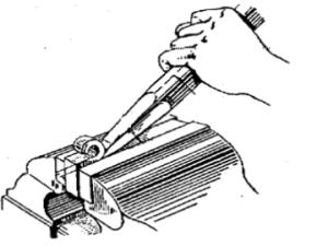 kỹ thuật đục kim loại mặt phẳng và đục chặc