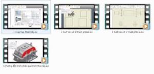 DVD tiếng Việt lắp ráp và xuất bản vẽ cho Inventor 2015.