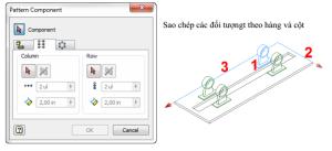 Pattern sao chép chi tiết trong lắp ráp inventor